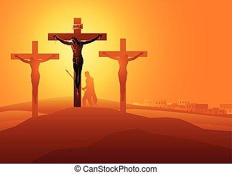 dies, jesus, crucifixos