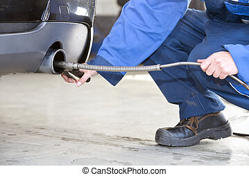 diesel, emissão, cheque