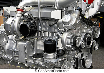Diesel engine - Close up shot of turbo charged diesel engine...