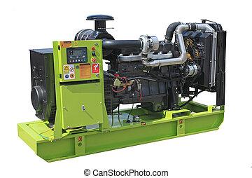 Diesel generator - Mobile electric power generator for...