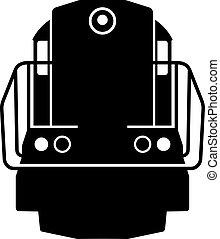 Diesel locomotive, shade picture