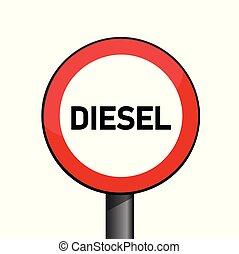 diesel prohibited red traffic sign emission scandal vector...
