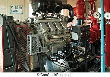 Diesel pump fire.