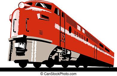 Diesel train - Illustration of a train
