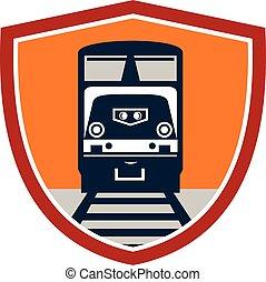 Diesel Train Freight Rail Crest Retro