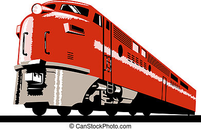 Diesel train - Illustration of a train