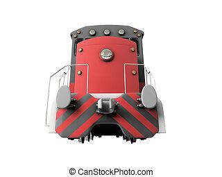 diesel, train, sur, blanc