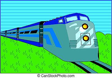diesel, trein