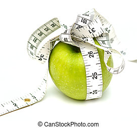 Diet? - Apple and tape measure