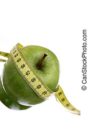 Diet Apple - Green apple and measuring tape