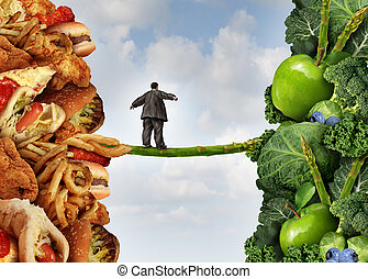 Diet Change - Diet change healthy lifestyle concept and...