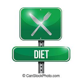 diet food sign illustration design
