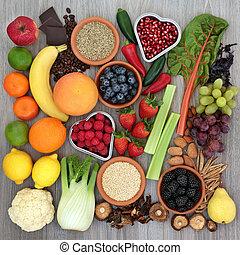 Diet Food with Herbal Medicine - Diet health food with fresh...