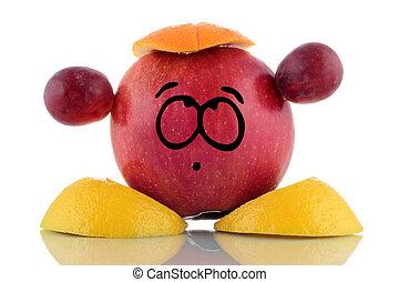 Diet. Funny fruit charakter