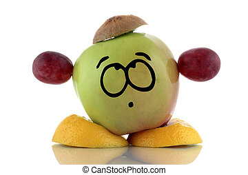 Diet. Funny fruit charakter