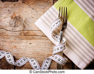 diet., haciendo dieta, concept., dieta, menú