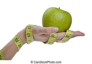 Diet Hand Concept