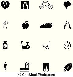 diet icon set