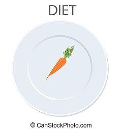 diet icon. vector illustration