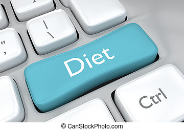 Diet key on a computer keyboard