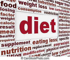 Diet message background design