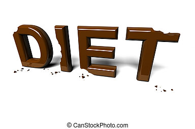 Diet not accomplished - Concept of an unsuccessful attempt...