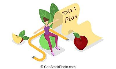Diet plan. Nutriotion control and healthy food