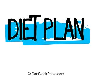 Diet Plan typographic stamp