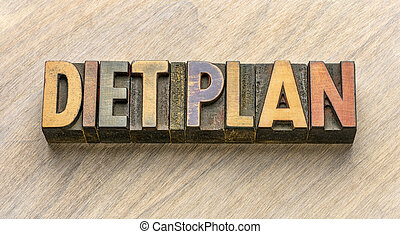 diet plan word abstract wood type