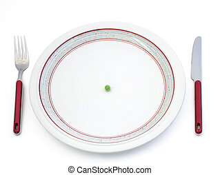 Diet - Single pea on plate
