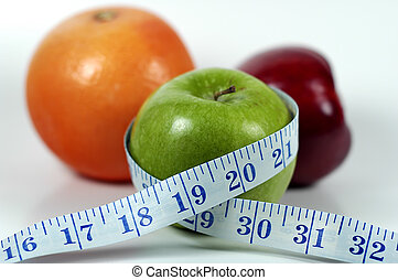 Diet - Photo of Apple WIth Tape Measure