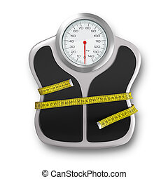 Diet time - Very high resolution rendering of a scale and...
