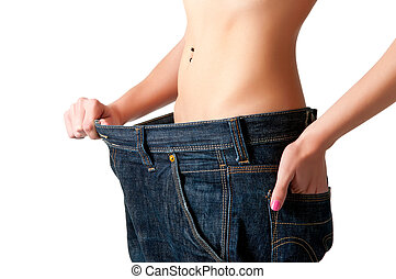 Diet Time - Woman seeing results from her diet