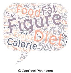 Diet Tips for a Beautiful Female Figure text background wordcloud concept