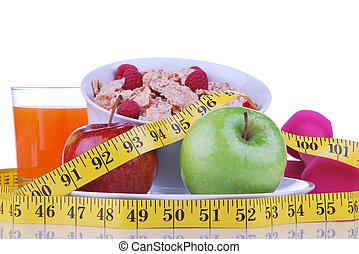Diet weight loss food breakfast concept