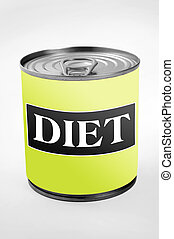 Diet word on can label