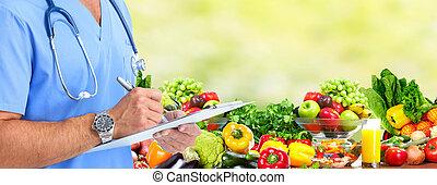 dieta, e, saúde, care.