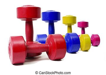 dieta, exercício, e, desporto, materiais