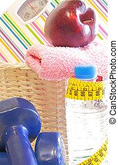 dieta sana, y, equipo salud