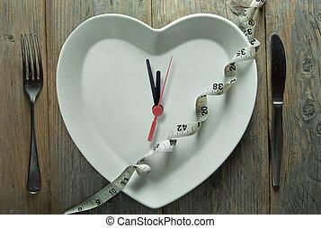 dieta, tiempo