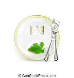 dieta, vettore, illustrazione