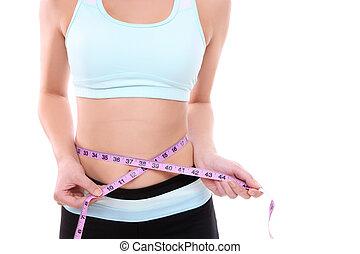 dieta, y, ejercicio