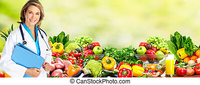 dieta, y, salud, care.