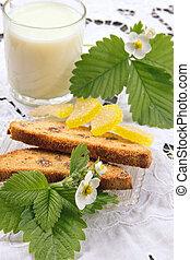 Dietary breakfast with milk