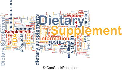 Background concept wordcloud illustration of dietary supplement