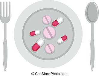 Dietary Supplement Illustration - Illustration of Tablets...