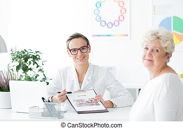 Dietician doctor looking at camera