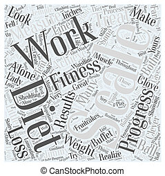 Dieting and Fitness Word Cloud Concept