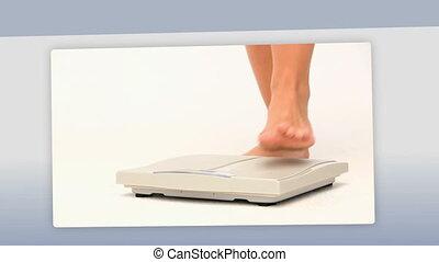 dieting, kobiety, montaż