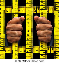 Dieting Prisoner Concept